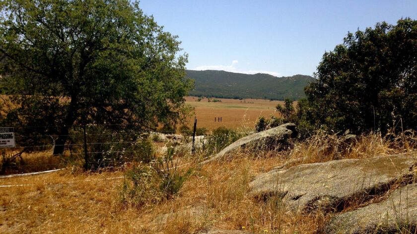 View of some of the land in the southern part of Hellhole Canyon Preserve