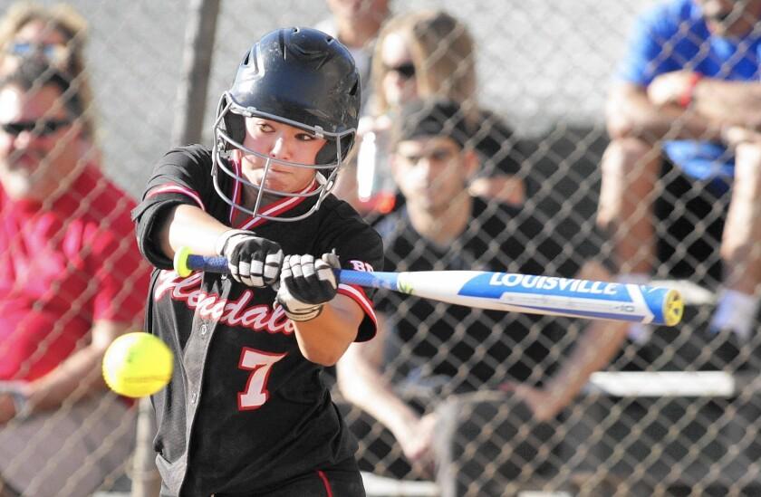 Glendale softball's Sammy Fabian has a 58-game hitting streak