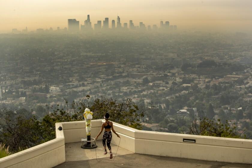 Smoke over Los Angeles.