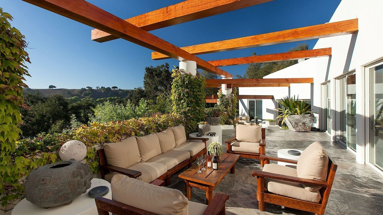 The 64-acre vineyard estate was built for prolific television producer Douglas S. Cramer.