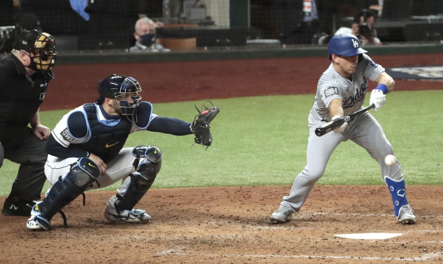 Dodgers' Austin Barnes equals World Series bunt, homer feat - Los Angeles  Times