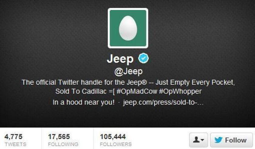Jeep the latest to have Twitter account hacked [Updated]
