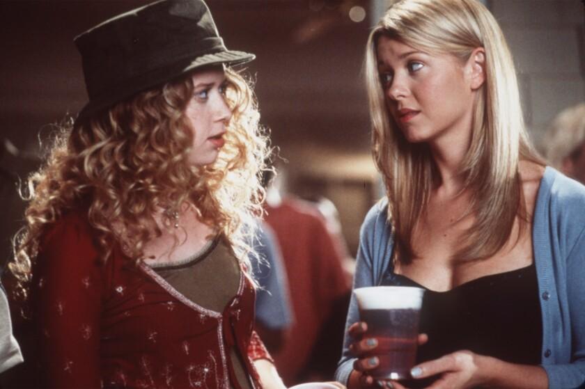 "Natasha Lyonne, left, as Jessica, and Tara Reid as Vicky in ""American Pie."""