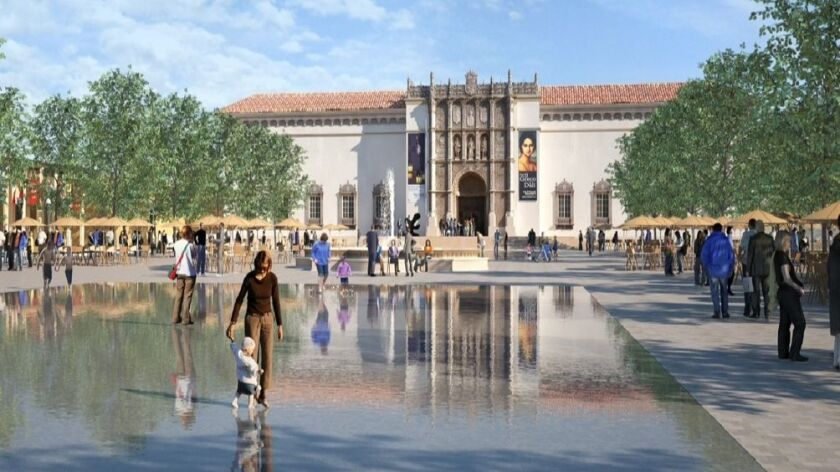 The Plaza de Panama would be beautified as part of an effort to remove cars and parking from the cen