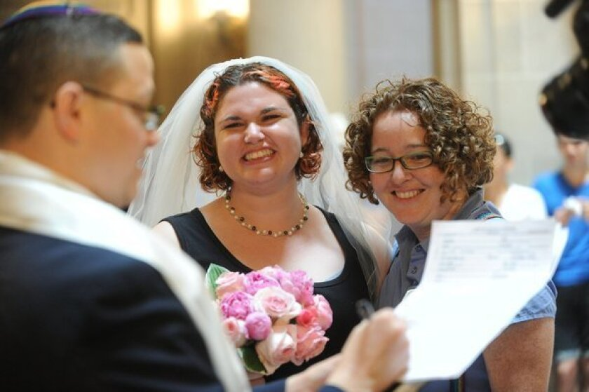 Same-sex marriages resumed in California on June 28, two days after the Supreme Court turned aside a challenge to a lower-court ruling against Proposition 8.