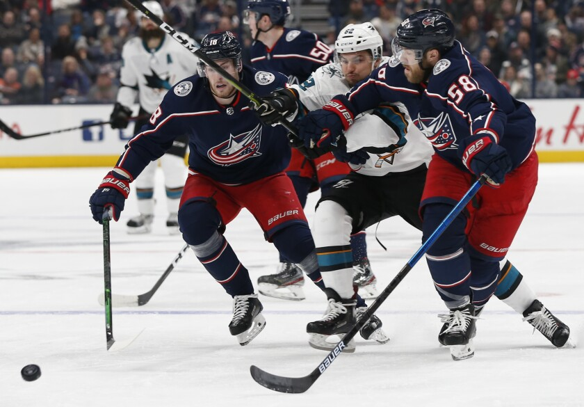 Sharks Blue Jackets Hockey