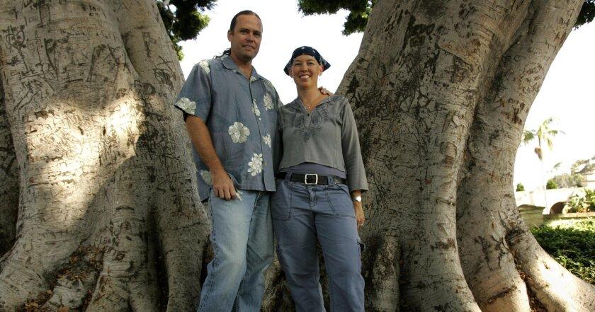 "Kelly Mayhew and Jim Miller, editors of ""Sunshine/Noir II."""