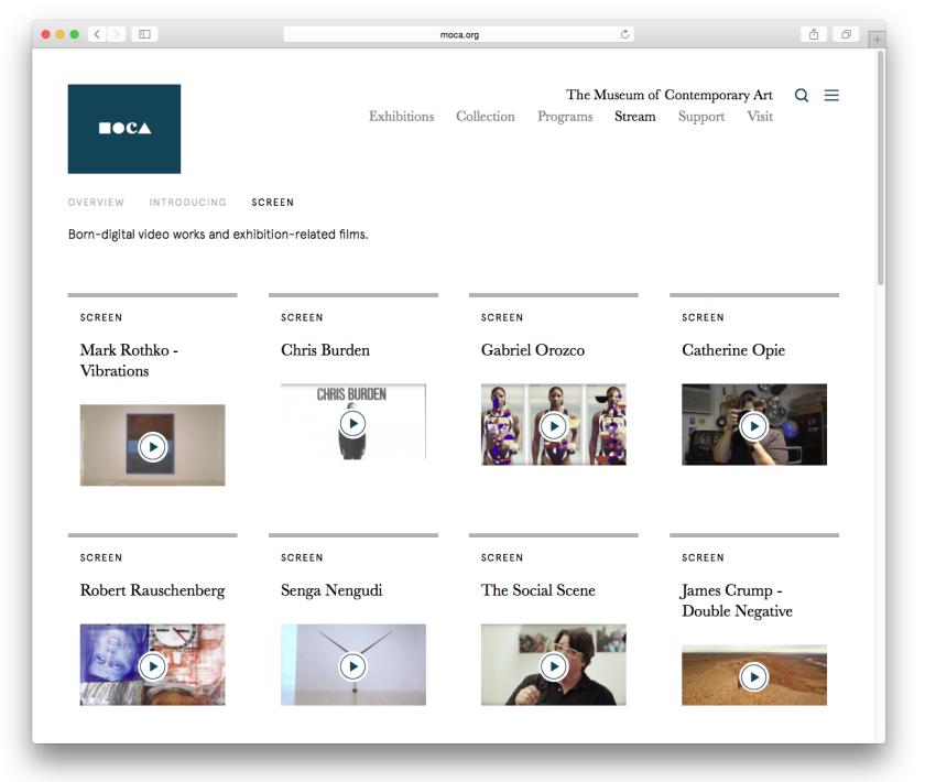 Museum of Contemporary Art website