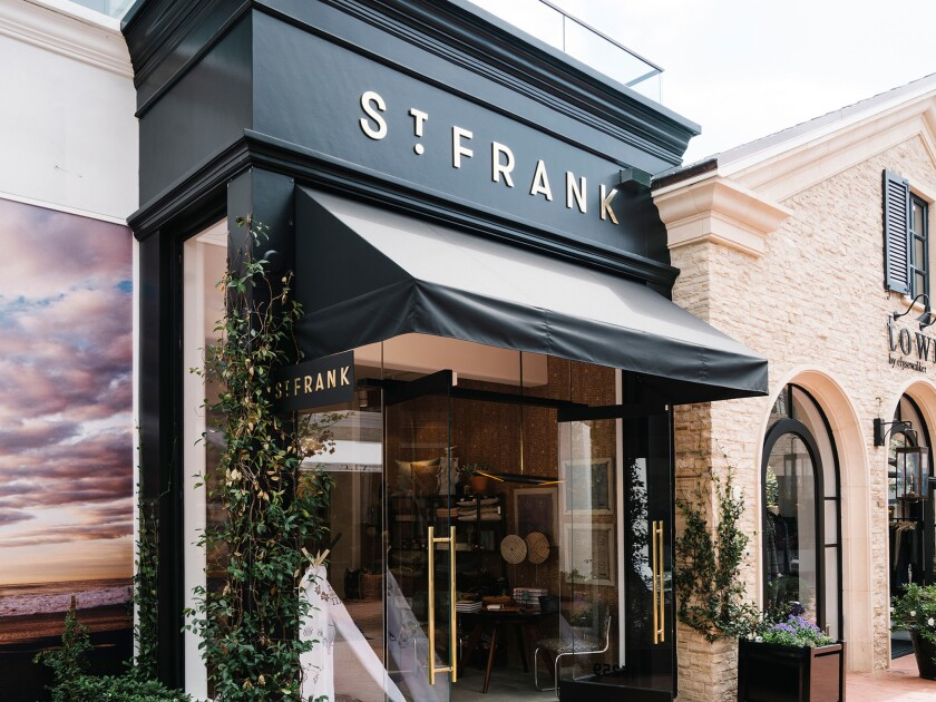 Home accessories brand St. Frank has opened a store in Pacific Palisades.