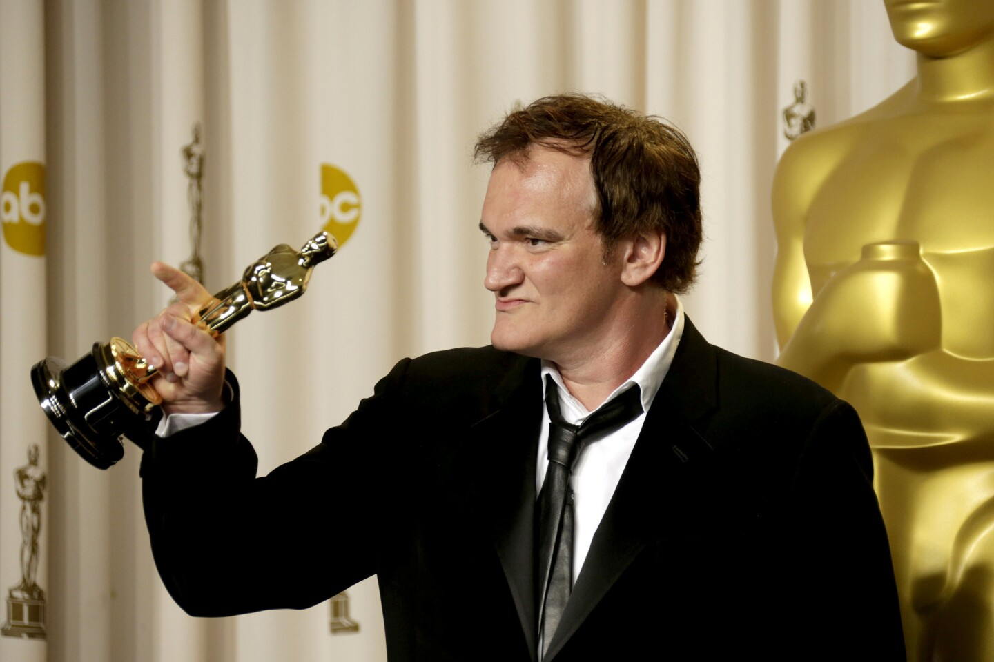 """""""I think an adult audience is really rising up,"""" the """"Django Unchained"""" writer-director said, and that's a good thing. """"That we're not making movies for teenagers anymore is kind of cool, especially now that I'm not a teenager anymore."""" He won the Oscar for original screenplay."""