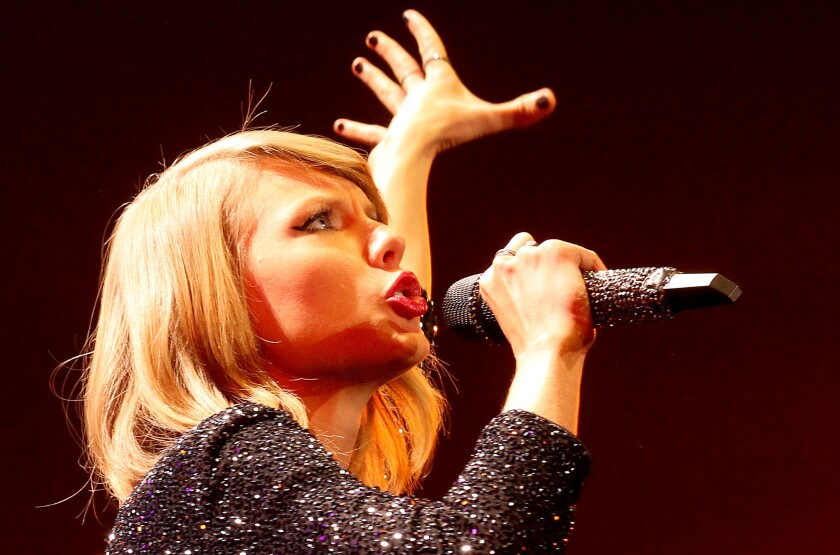 Singer Taylor Swift's Twitter and Instagram accounts were hacked Tuesday.