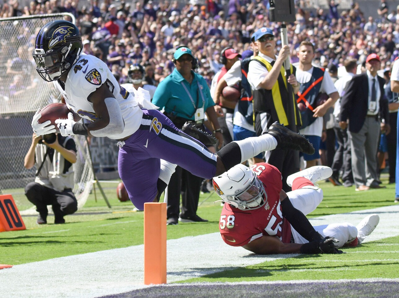 Ravens first home game against the Arizona Cardinals