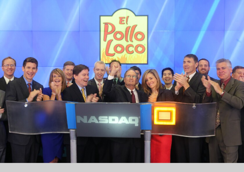 El Pollo Loco started trading publicly for the first time on Friday.
