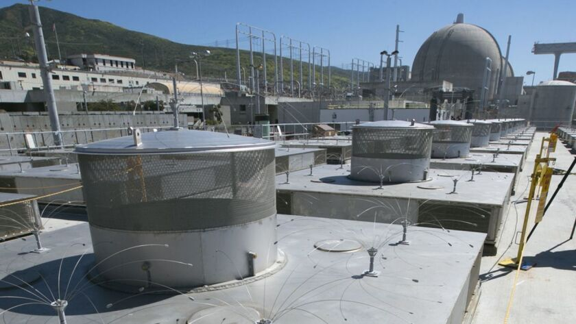 San Onofre nuclear power plant spent fuel storage.
