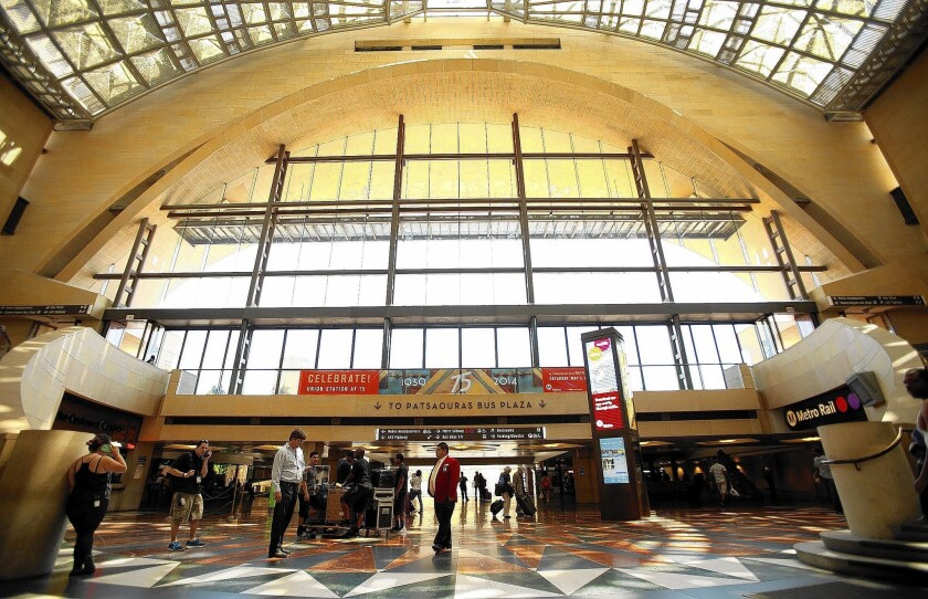 L.A. transportation officials plan to install four sections of track that will enable Amtrak and Metrolink trains to run straight through Union Station, where all tracks now dead-end. That would enable trains to avoid the 15 to 20 minutes it now takes to enter and exit the station at its lone north entrance.