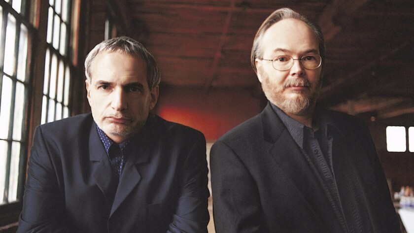 Donald Fagen, left, and Walter Becker of Steely Dan will play the Hollywood Bowl on Saturday.