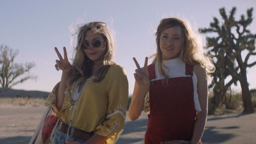 "Elizabeth Olsen and Aubrey Plaza in ""Ingrid Goes West."""