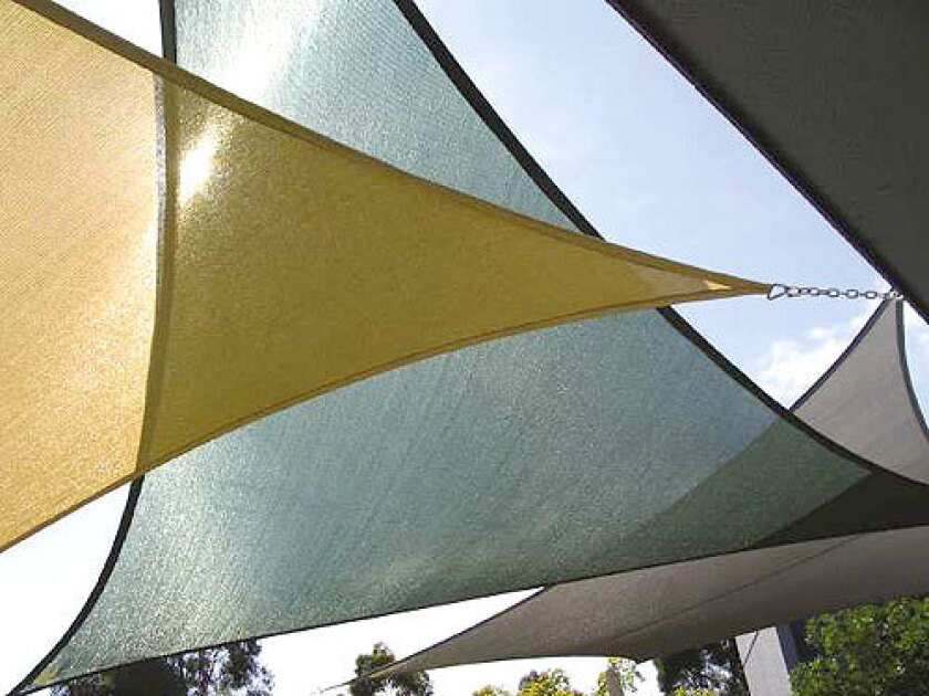 Shade sails are dramatic outdoor additions to human comfort, but you'll want more sun-45-50%- to shade plants.