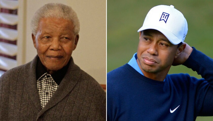 Tiger Woods has fond memories of his 1998 meeting with Nelson Mandela.