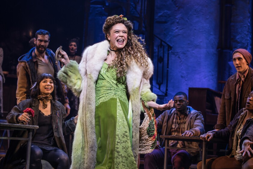 """Amber Gray performs in """"Hadestown"""" on Broadway"""