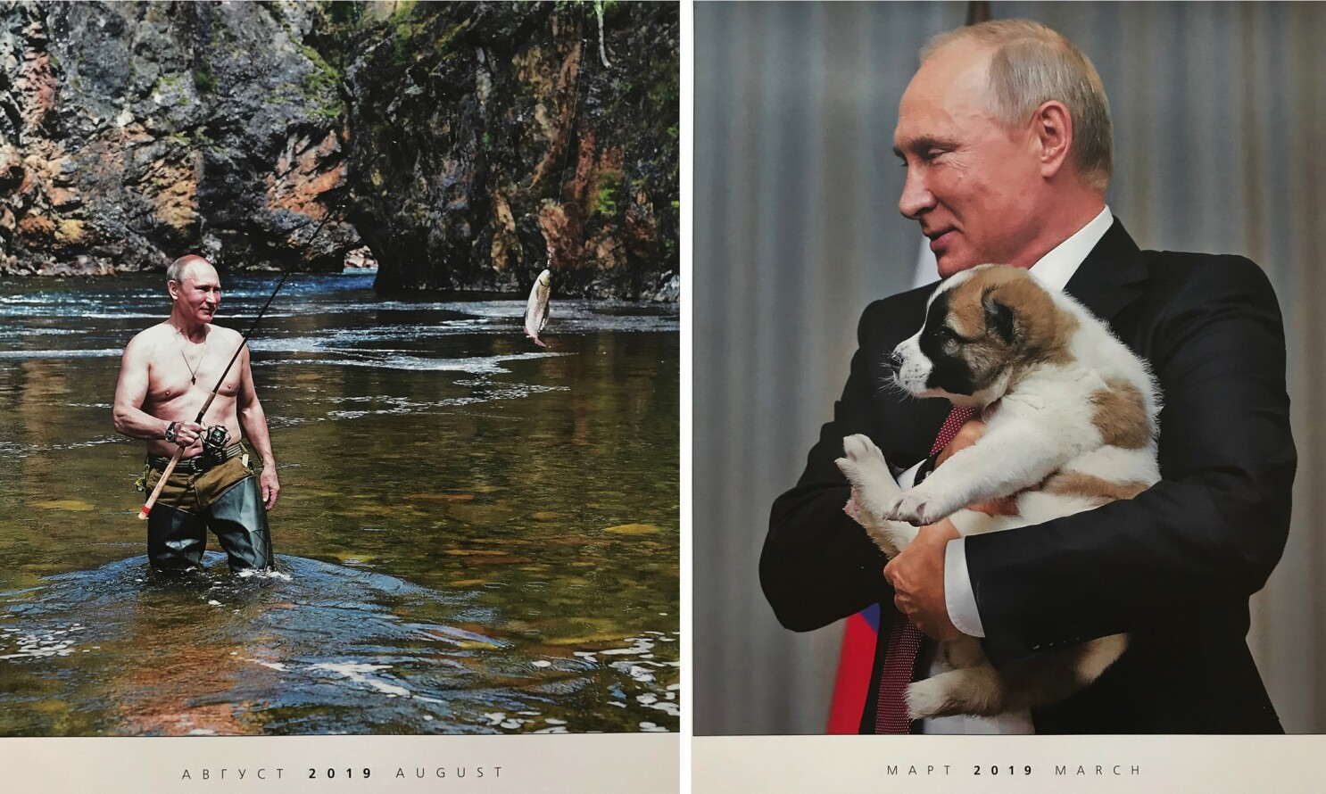 If You Like A Shirtless Russian Leader A 2019 Putin Calendar Could Be For You Los Angeles Times