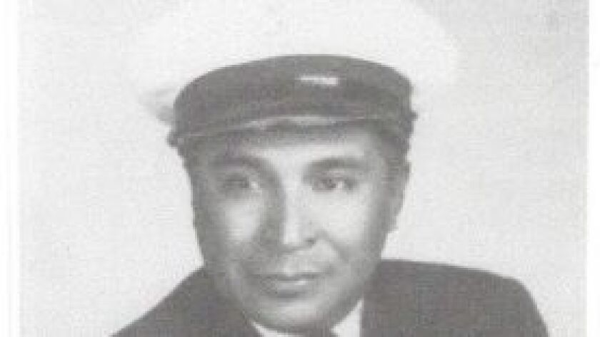 Ray Chavez was a Navy Seaman 1st Class when this photo was taken early in his naval career.