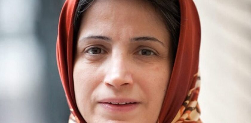 An undated handout picture made available by the Mihan news agency on Oct. 26 shows Iranian lawyer Nasrin Sotoudeh.
