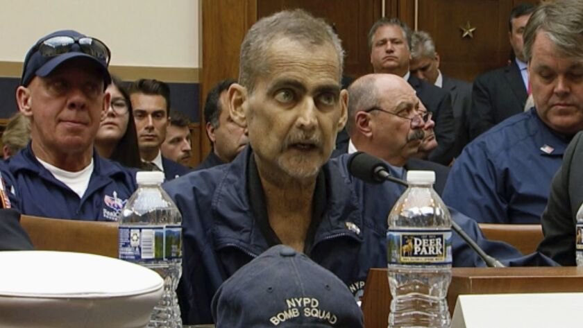 FILE - In this June 11, 2019, file image made from video, retired New York Police Detective and 9/11
