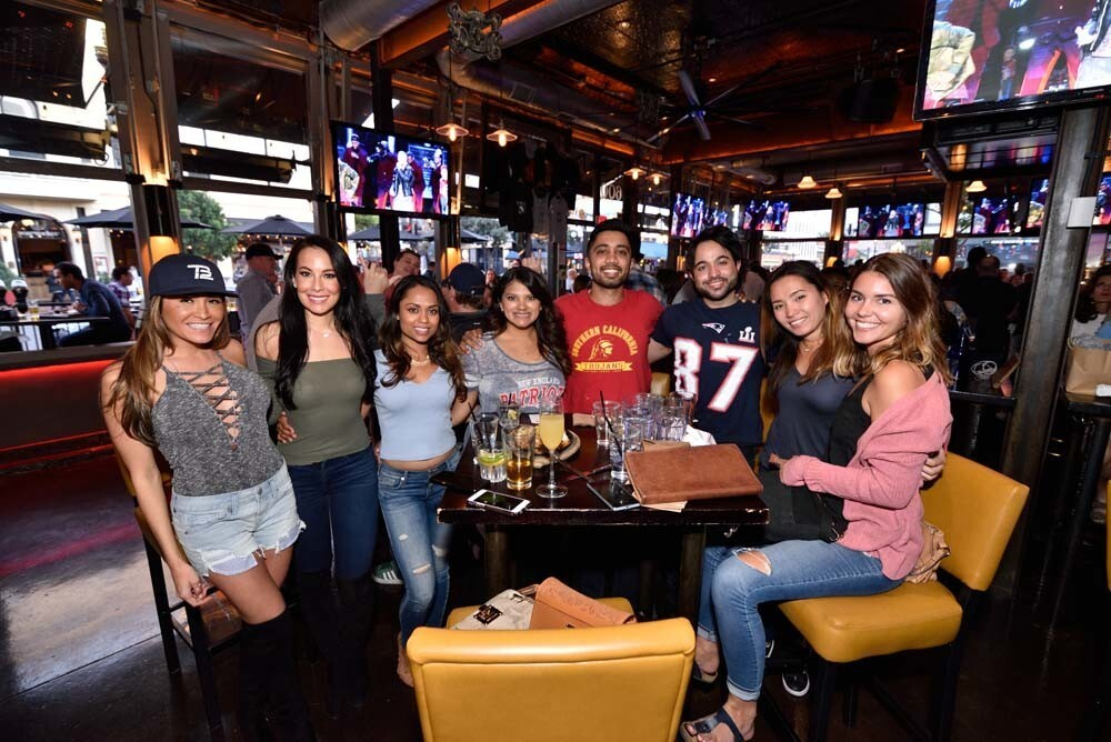 Football fans watched the Philadelphia Eagles win their first Super Bowl at barleymash on Sunday, Feb. 4, 2018.