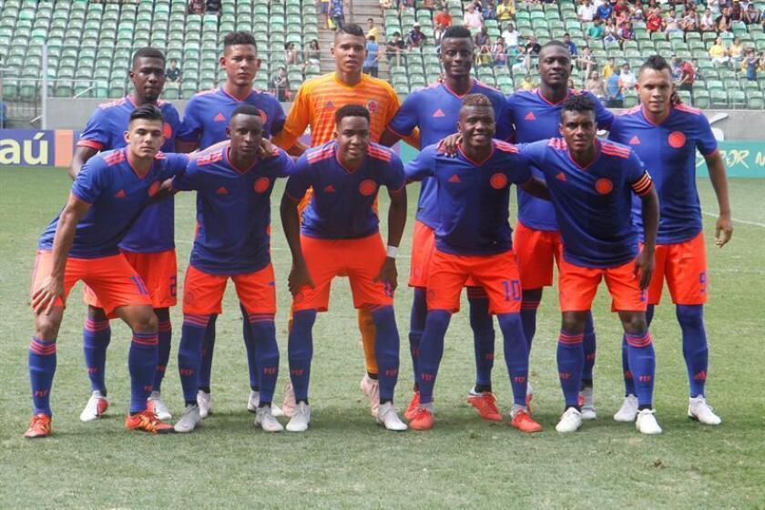 En la imagen, los jugadores de la selección Colombia sub'20. EFE/Archivo