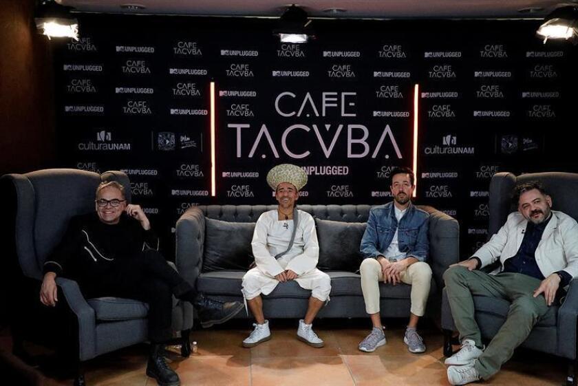 Fotografía cedida este martes, por la Universidad Nacional Autonoma de México (UNAM), de la banda mexicana Café Tacvba, durante una charla en Ciudad de México (México). EFE/SOLO USO EDITORIAL