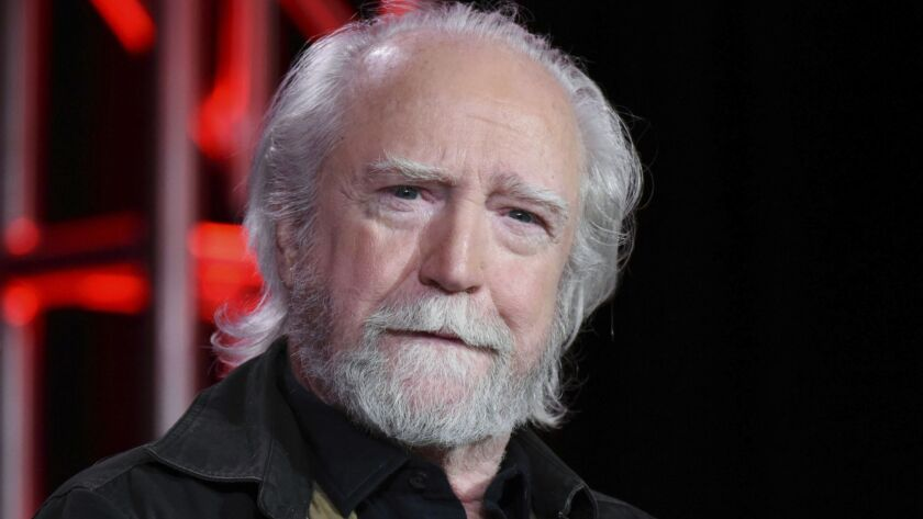 "Scott Wilson appears during the ""Damien"" panel at the A&E 2016 Winter TCA in Pasadena on Jan. 6, 2016. Wilson, who played the murderer Robert Hickock in 1967's ""In Cold Blood"" and was a series regular on ""The Walking Dead,"" has died. He was 76."