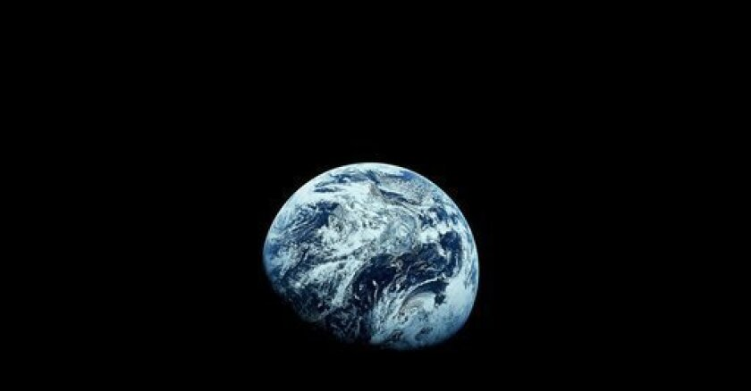 This December 1968 file photo provided by NASA shows Earth as seen from the Apollo 8 spacecraft. The images provided by the NASA mission were the first to how the planet in its entirety.