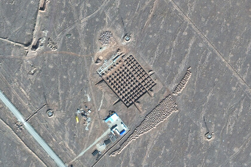 A satellite photo shows construction at Iran's nuclear facility at Fordo.