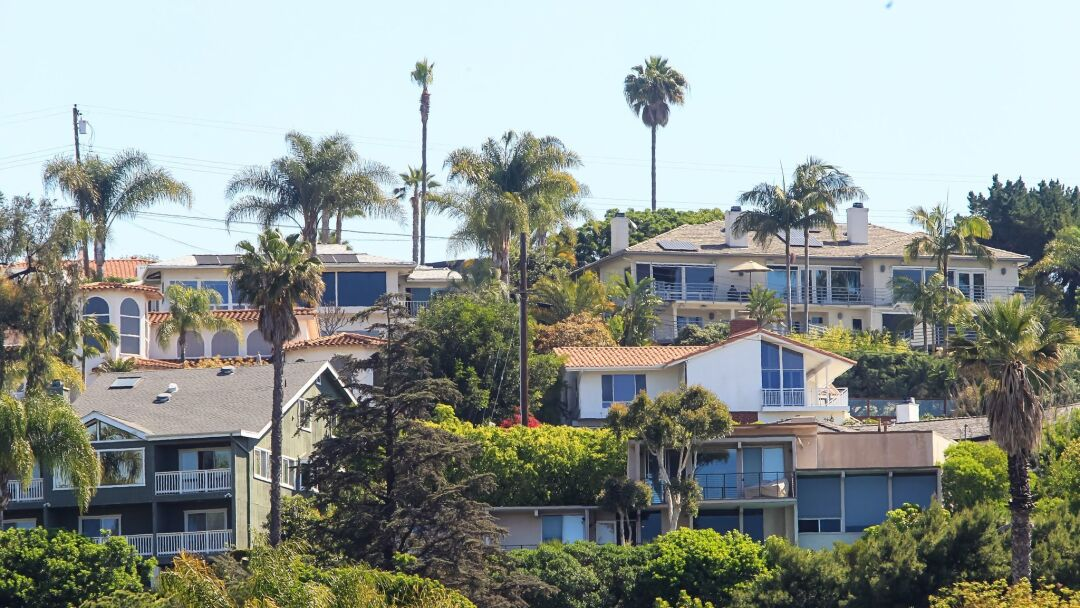 Homes in Del Cerro neighborhood of San Diego, California.