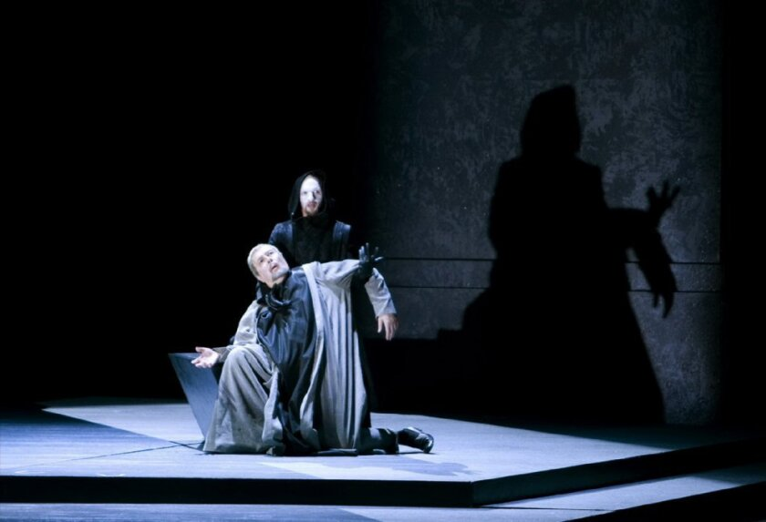 "A scene from San Diego Opera's production of ""Murder in the Cathedral."""