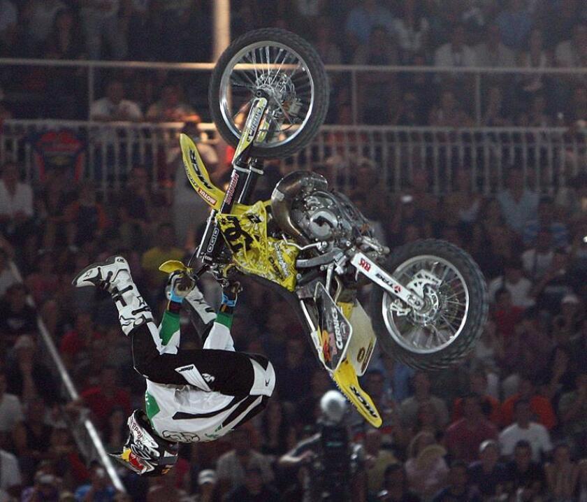 La leyenda del motocross Travis Pastrana. EFE/Archivo