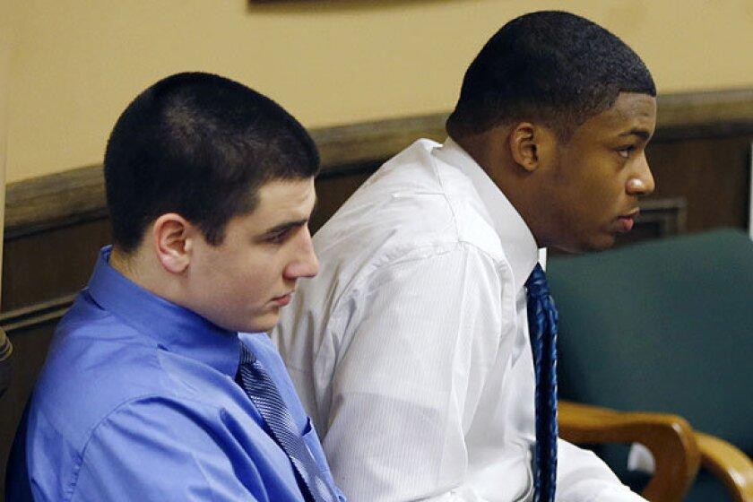2 Ohio Teens Sentenced In Rape Defendants Apologize Lawyers Weep Los Angeles Times