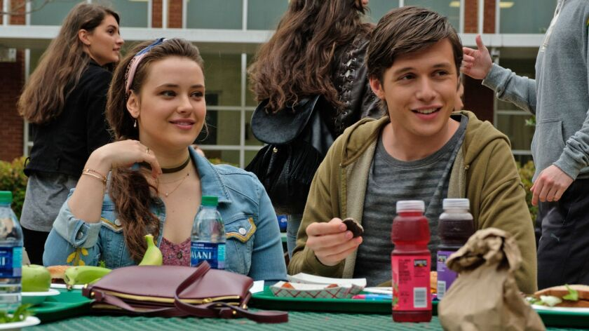 "Katherine Langford plays Robinson's best friend in ""Love, Simon"" — and she's secretly in love with him."