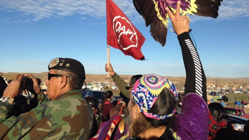 Thanksgiving at Dakota Access pipeline protest: 'It's a beautiful day to protect the water'