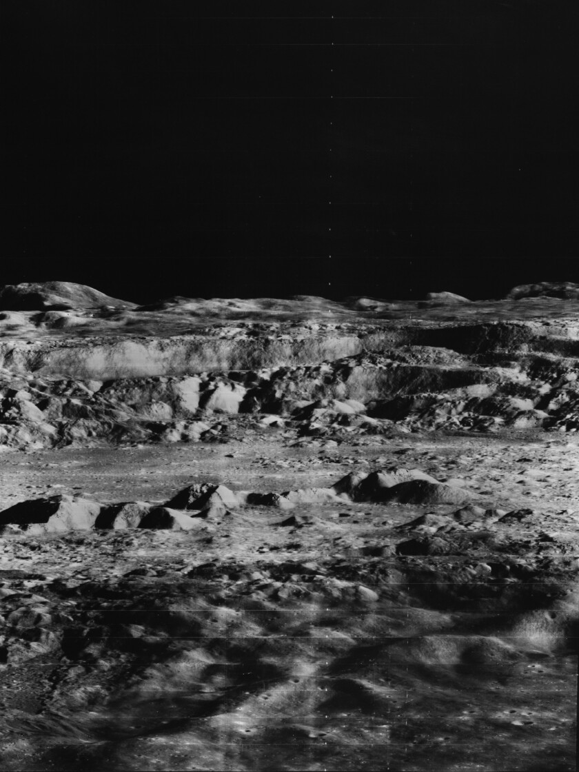 The full shot, photographed by Lunar Orbiter II, Nov. 24, 1966.