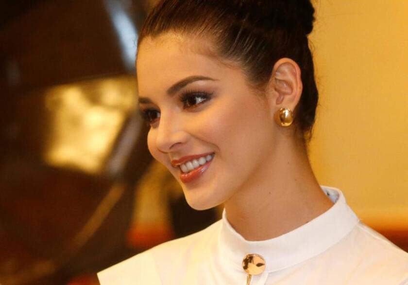 La candidata mexicana a Miss Universo, preocupada por la nutrición infantil