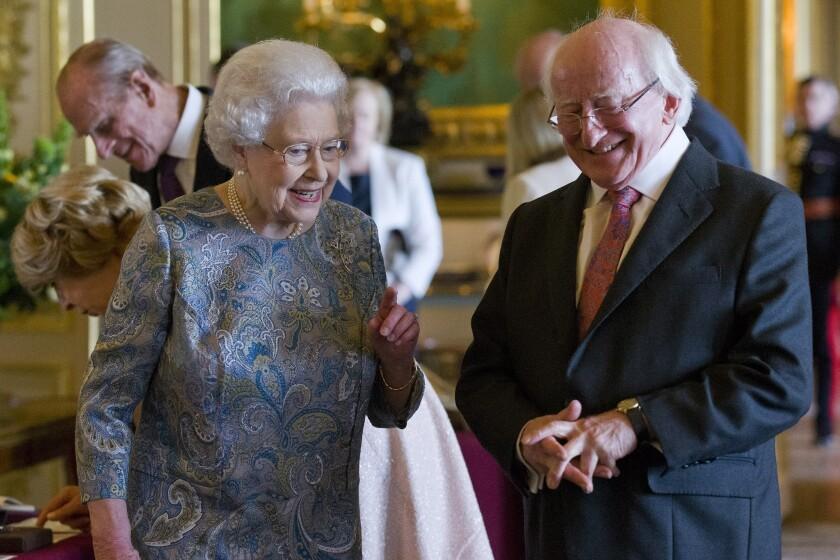 Queen Elizabeth II with Irish president