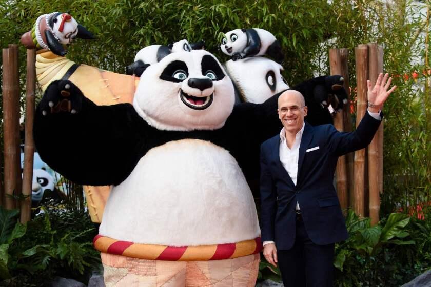 "DreamWorks Animation CEO Jeffrey Katzenberg at the London premiere of ""Kung Fu Panda 3"" on March 6, 2016."