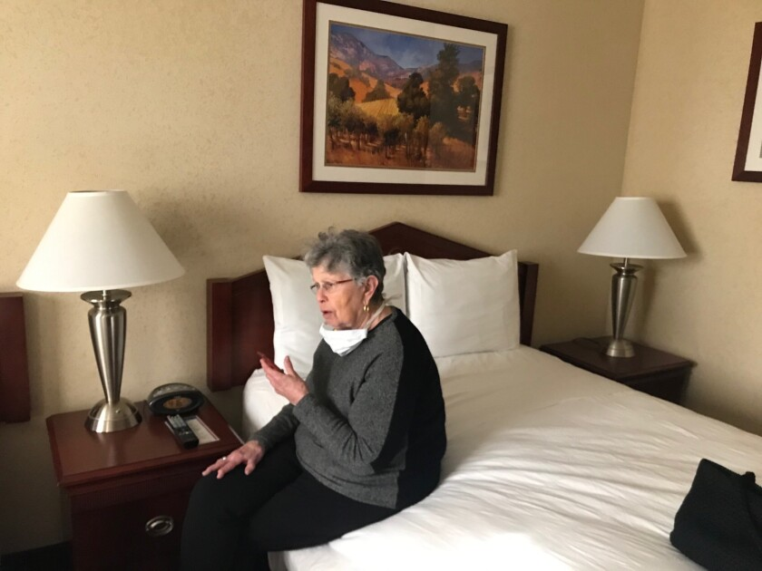 Hinda Gilbert quarantined at Travis Air Force Base