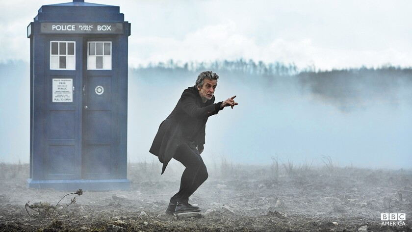 "Peter Capaldi as the Doctor in ""Doctor Who."""
