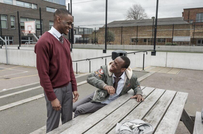 Stephen Odubola, left, and Micheal Ward in the movie 'Blue Story'
