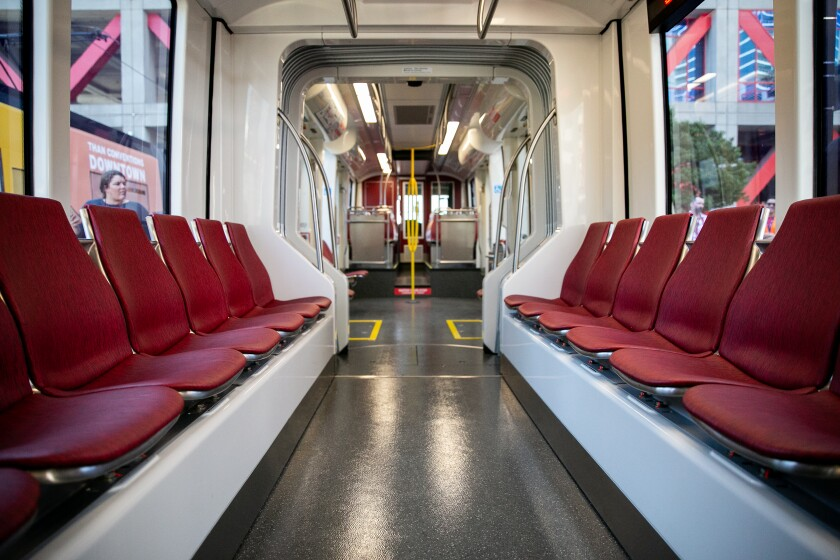 MTS shows off new trolley cars