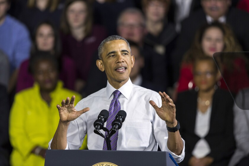 President Obama traveled to Milwaukee last month to sing the praises of his signature legislative legacy, the Affordable Care Act.