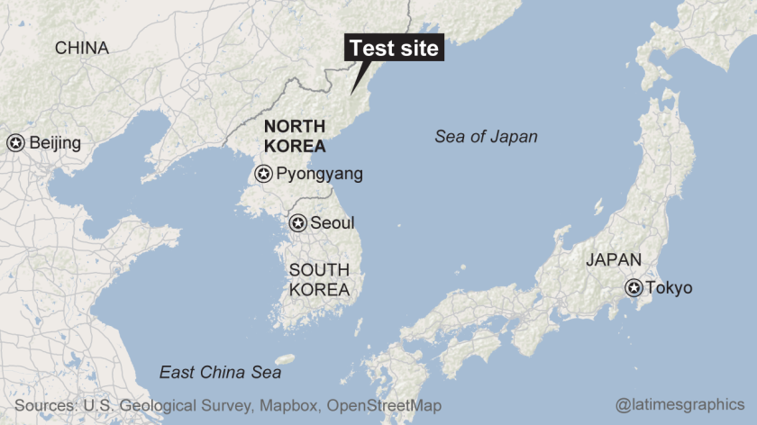 The U.S. Geological Survey recorded a magnitude 5.1 tremor in North Korea.